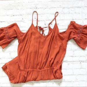 Mossimo Supply Burnt Orange Romper